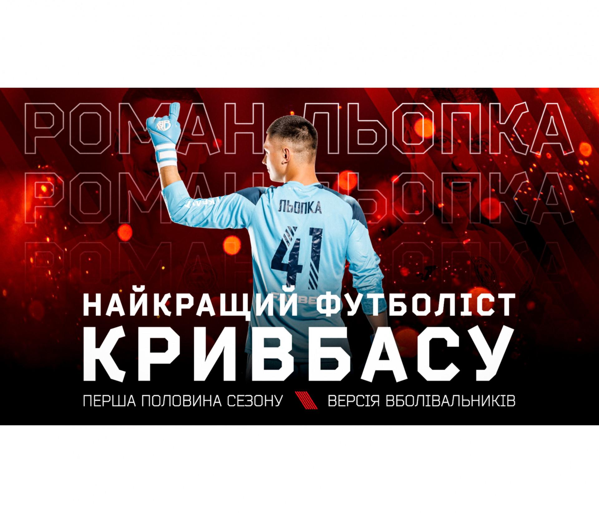 """Роман Льопка - найкращий гравець """"Кривбасу"""" у першому півріччі!}"""