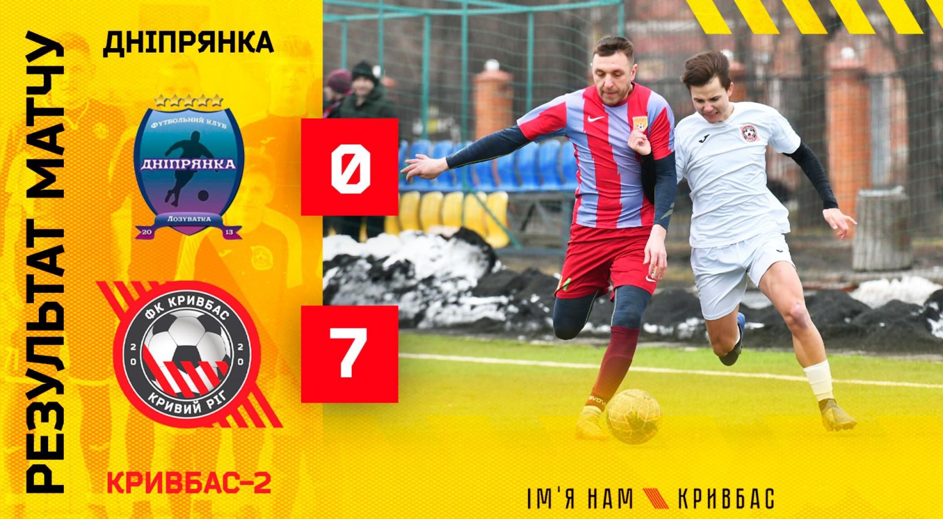 """""""Дніпрянка"""" - """"Кривбас-2"""" 0:7}"""