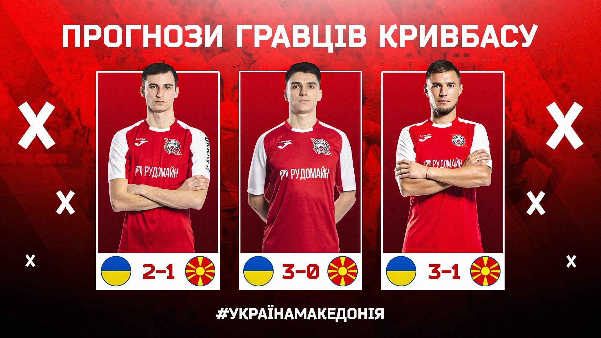 """Україна - Північна Македонія: що прогнозують гравці """"Кривбасу""""?}"""